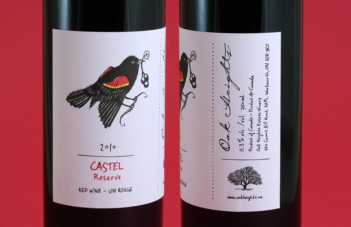 Oak Heights Castel package design– Luke Despatie and The Design Firm